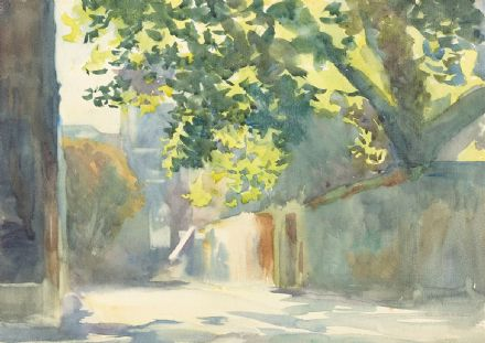 Sargent, John Singer: Sunlit Wall Under a Tree. Fine Art Print/Poster. Sizes: A4/A3/A2/A1 (002382)